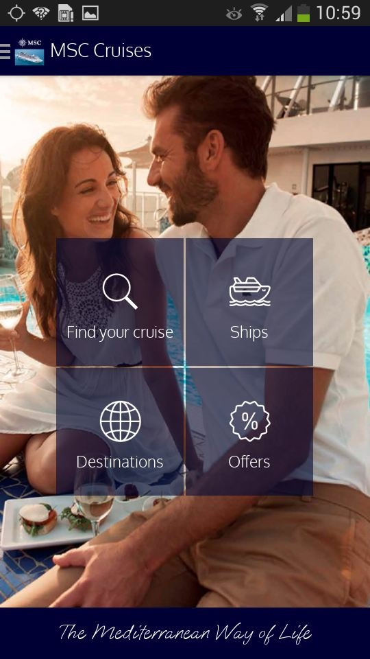 MSC Croisières lance une application / L'application comprend les principales informations sur les itinéraires et les navires