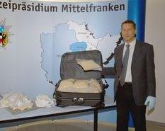 POL-MFR: (1324) Knapp 140.000 Ecstasy-Tabletten sichergestellt -             Bildveröffentlichung