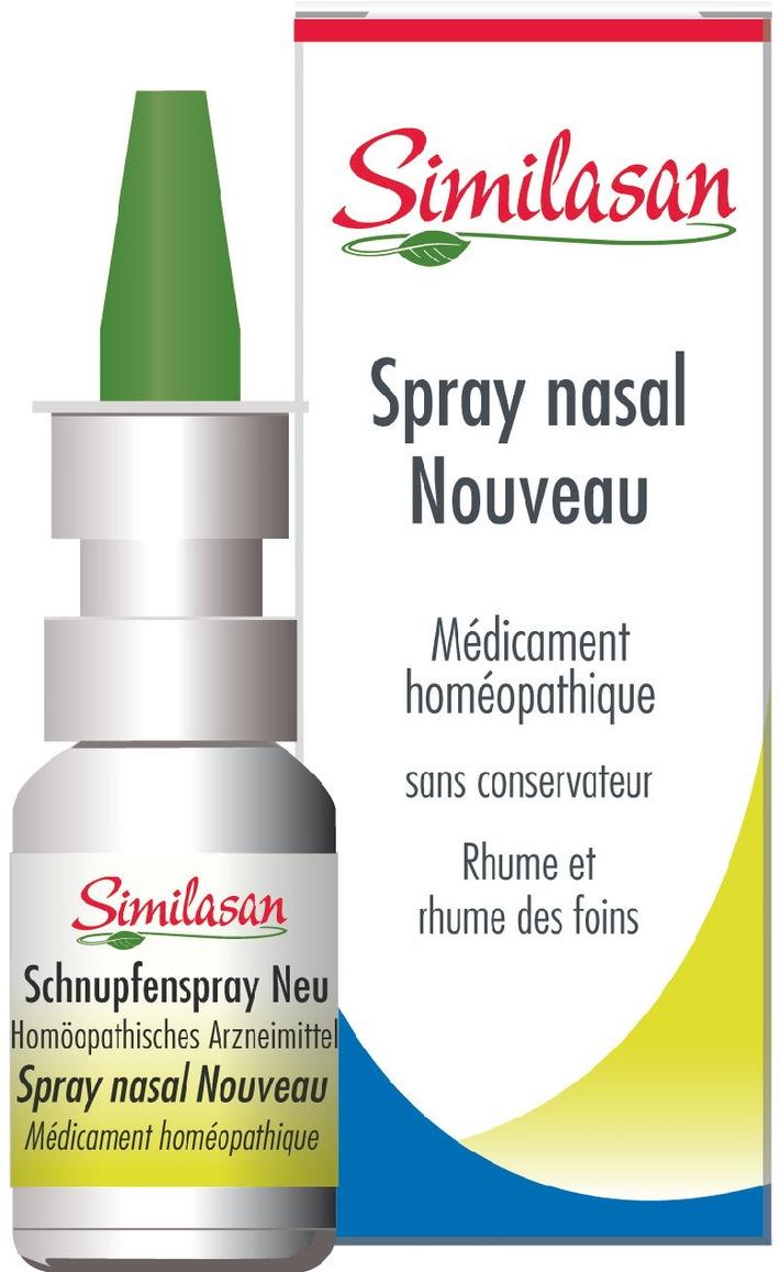 Similasan: Nouveau spray nasal - sans conservateur