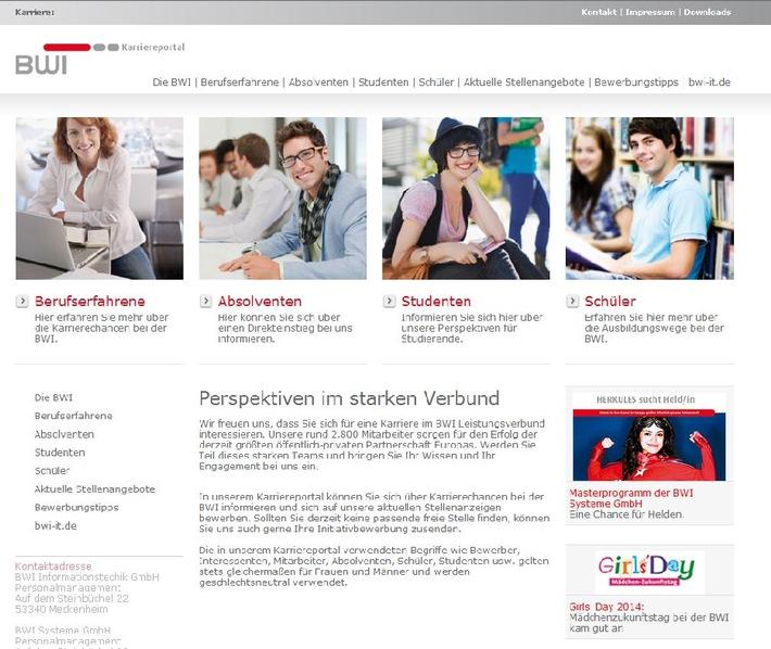 Karriere bei der BWI: Umfangreiche Informationen im Internet / BWI startet neues Karriereportal unter www.bwi-karriere.de