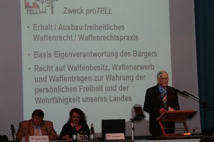 Samedi 13 avril 2013: 35e assemblée générale de proTELL - «Un peuple sans arme est un peuple sans défense»
