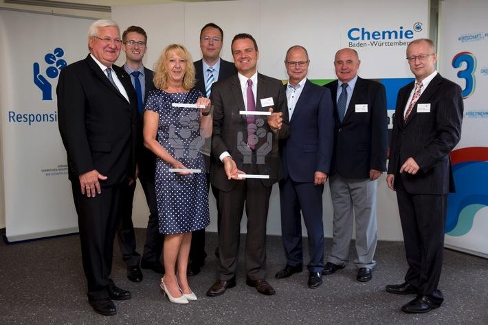 Responsible Care Preis der chemischen Industrie in Baden-Württemberg verliehen: Boehringer Ingelheim in Biberach und Michelin in Karlsruhe für Nachbarschaftskommunikation ausgezeichnet