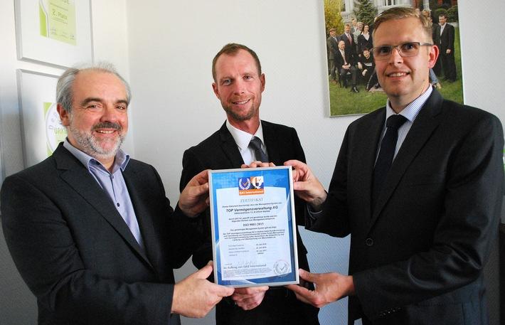 Wachsen mit höchster Qualität / TOP Vermögensverwaltung AG nach ISO 9001:2015 zertifiziert