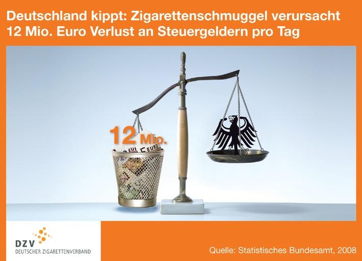 Deutschland kippt: Zigarettenschmuggel verursacht 12 Millionen Euro Verlust an Steuergeldern pro Tag