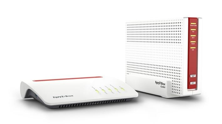 Neue FRITZ!Box-Spitzenmodelle für DSL und Kabel - Ausbau von FRITZ!WLAN mit Mesh-Komfort