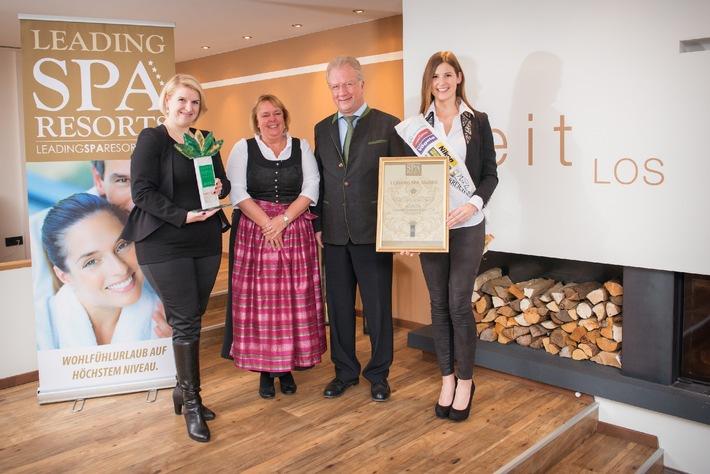 SCHÜLE'S Gesundheitsresort & Spa gewinnt den Leading Spa Award 2014