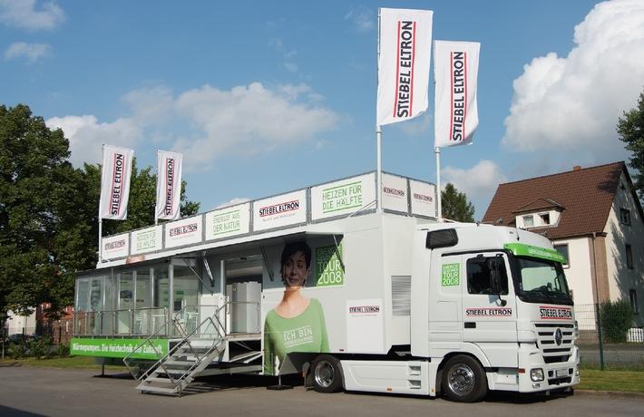 Energiegewinner Tour 2008: Effiziente Heiztechnik vor Ort erleben / Mobile Wärmepumpen-Kompetenz in Deutschland unterwegs