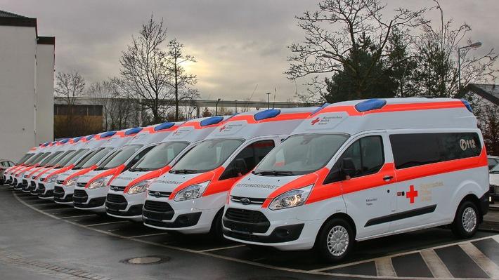 """500. Ford Transit """"Bayern Krankentransportwagen"""" übergeben"""