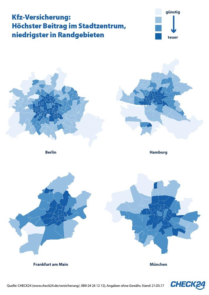 Kfz-Versicherung: Preisunterschiede in derselben Stadt um bis zu 13 Prozent