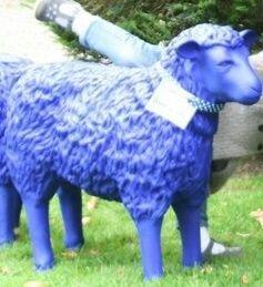 POL-DA: Birkenau: Blaue Schafe aus dem Schlosspark entwendet