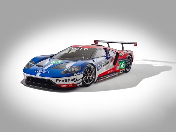 Ford GT-Rennversion feiert 2016 Europa-Debüt in Silverstone und startet zudem in Le Mans