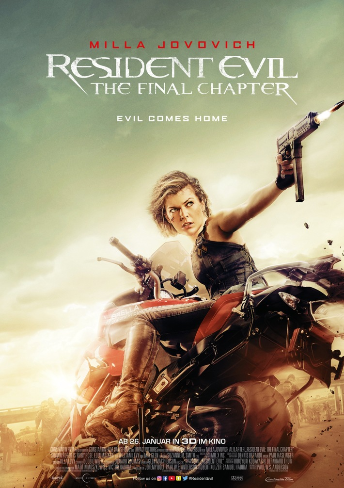 RESIDENT EVIL: THE FINAL CHAPTER - Milliarden-Dollar-Grenze im weltweiten Boxoffice geknackt