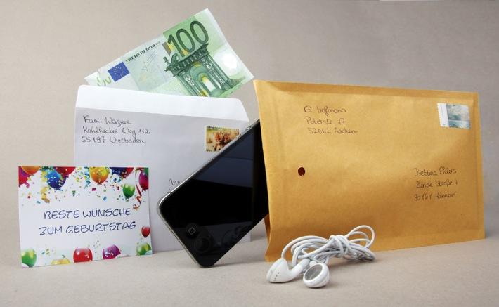 Bargeld und Wertsachen per Post versenden