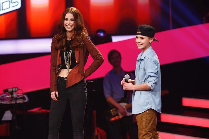 """Flirtoffensive bei """"The Voice Kids"""": Lukas (14) aus Hannover singt um Lenas Handynummer"""