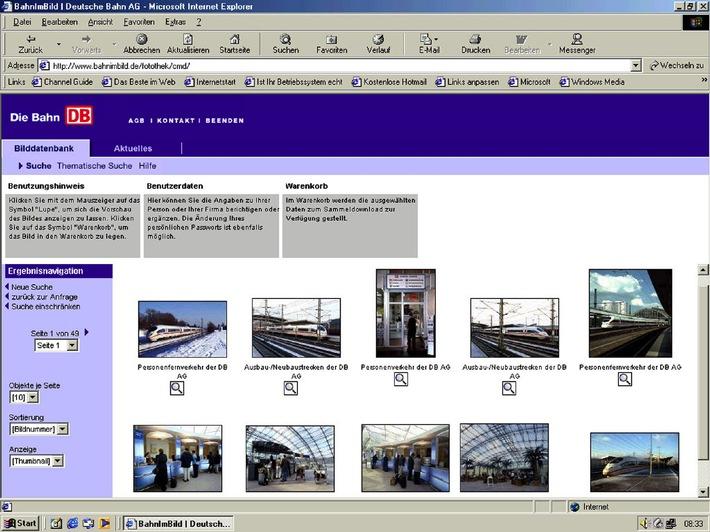 Bildarchiv der Bahn geht online / Unter www.bahnimbild.de sind über 1.000 Bildmotive rund um die Uhr abrufbar
