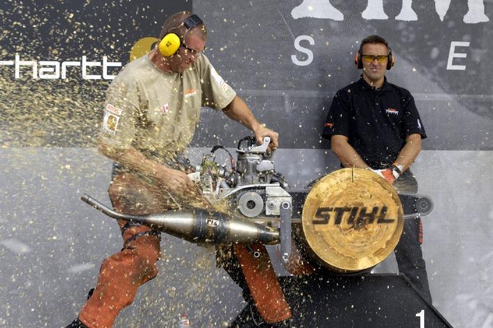 Einladung zur STIHL® TIMBERSPORTS® Weltmeisterschaft Internationale Sportholzfäller-Elite trifft sich am 13. September 2009 in Brienz/BE
