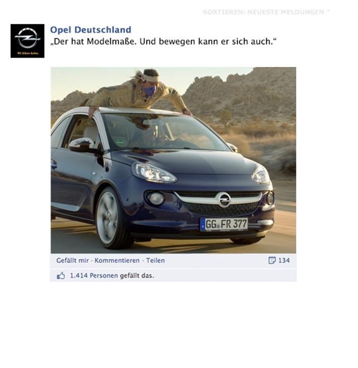 Starke Marke mit Erfolg / Wie Opel mit Facebook neue Wege geht