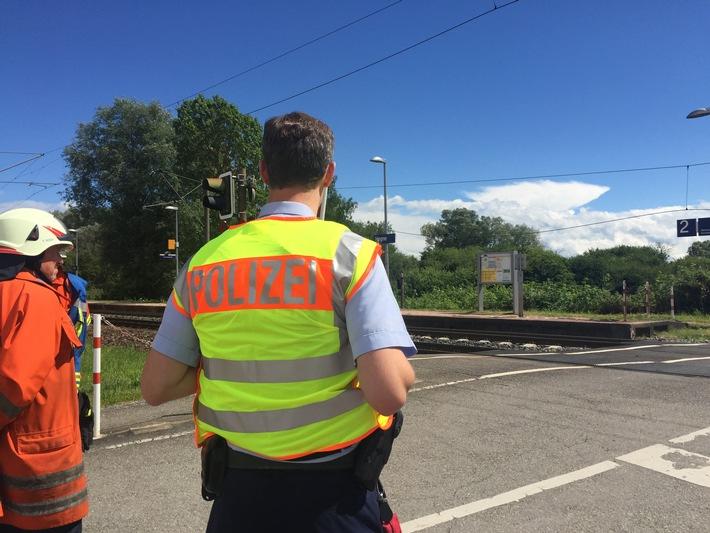 BPOLI-KN: Zugverkehr zwischen Konstanz und Radolfzell komplett gesperrt