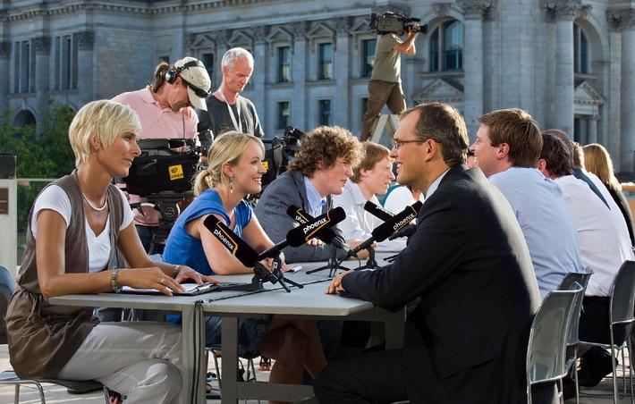 PHOENIX-Programmhinweis - Innovatives Format Politiker-Speed-Dating, Mittwoch, 9. September 2009, 16.00 Uhr (Wdh. 22.15 Uhr und 0.00 Uhr)