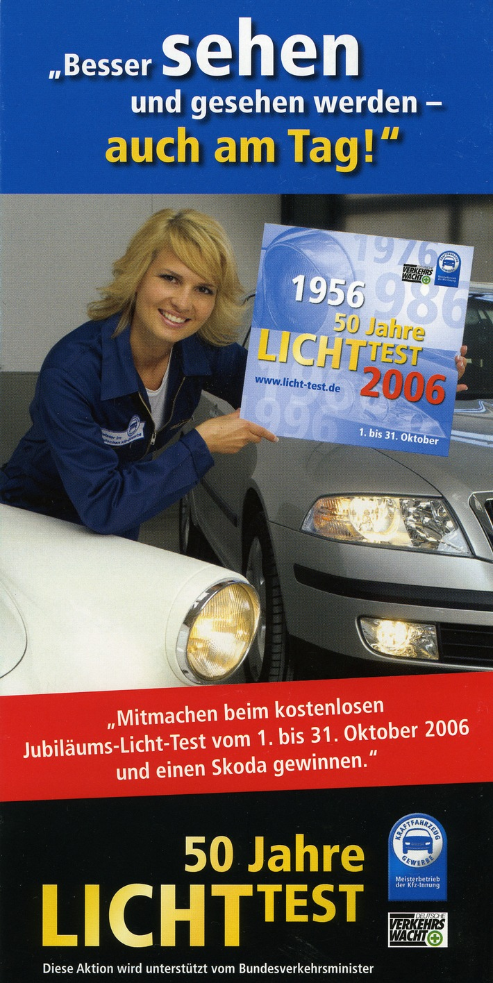 POL-SHDD: Einladung Auftaktveranstaltung 50 Jahre Kraftfahrzeug-Beleuchtungsaktion / Termin mit Frau Staatssekretärin Oda Scheibelhuber