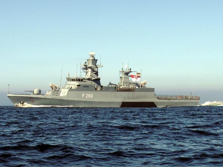 Marine:Premiere für die Deutsche Marine - Erste Korvette wird in Dienst gestellt