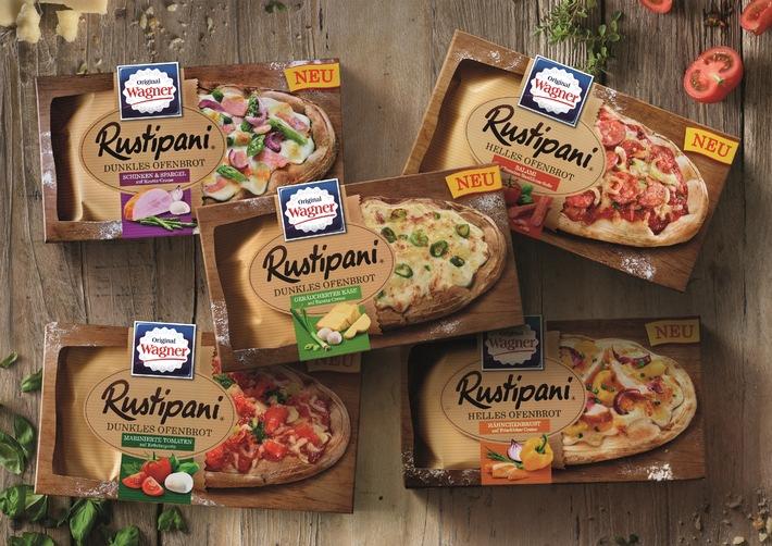 Der Trendsnack aus der Tiefkühltruhe: Rustipani - das neue Ofenbrot von Wagner