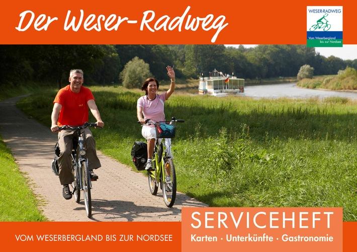Kostenfreier Tourenplaner für den gesamten Weser-Radweg neu erschienen / Mit dem kompakten Serviceheft individuelle Touren planen