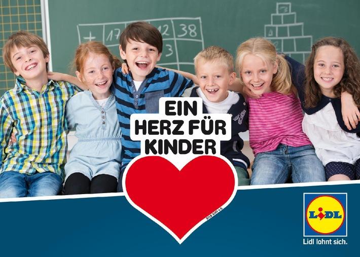 """Lidl spendet 350.000 Euro an """"Ein Herz für Kinder"""" / Engagement für brotZeit e.V. und den Verkauf von CD-Hörspielboxen"""