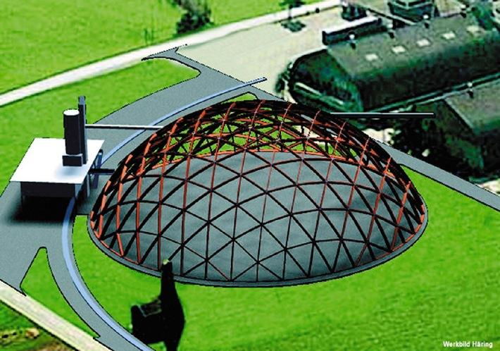 Grösste Kuppel der Schweiz nimmt Form an: Zentrales Salzlager für die Schweiz