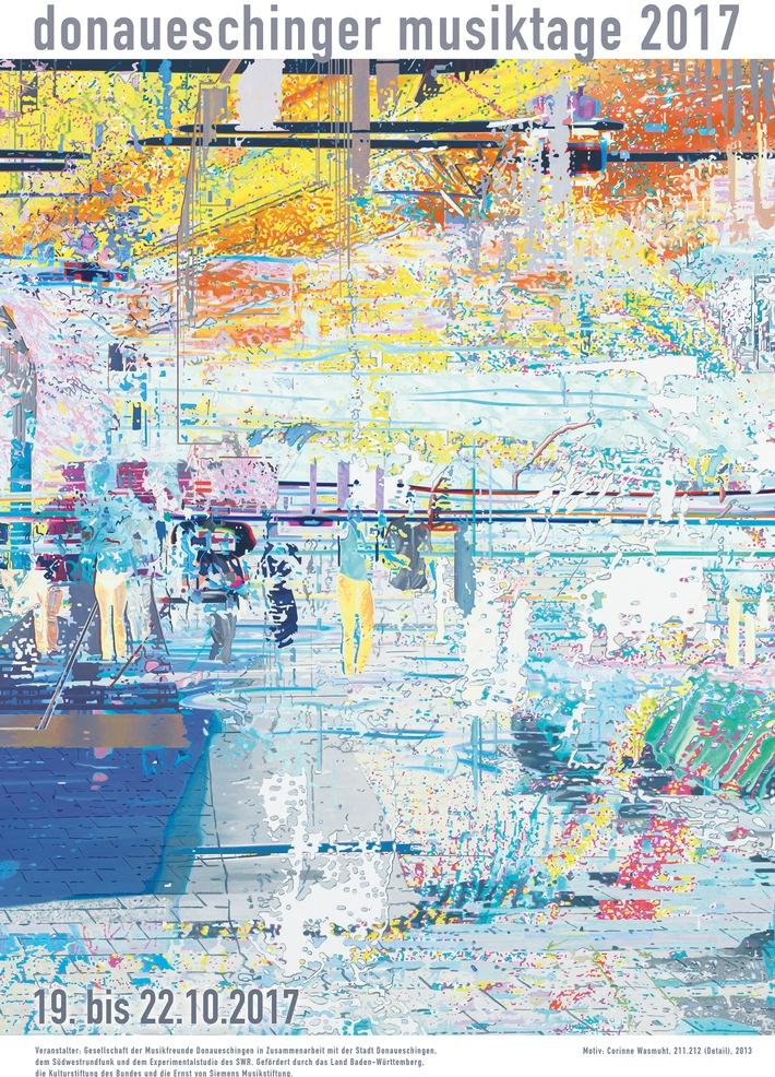 Donaueschinger Musiktage mit Plakatmotiv von Corinne Wasmuht Farbe, Raum und Rhythmus stehen im Mittelpunkt / Limitierte signierte Auflage erhältlich