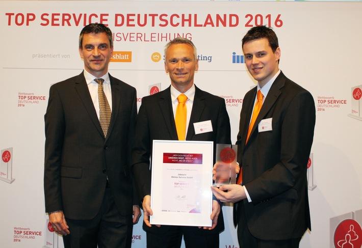 1. Platz unter Personaldienstleistern / Jobware punktet bei TOP SERVICE Deutschland 2016