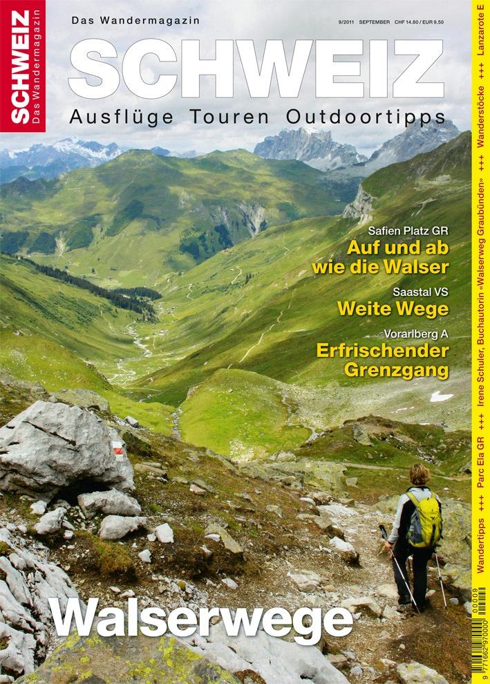 """Wandermagazin Schweiz"" im September, 9_2011: Walserwege"