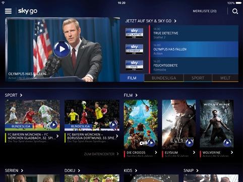 Das neue Sky Go: Design-Update, neue Funktionen und weitere Inhalte für das beste Online-Fernsehen