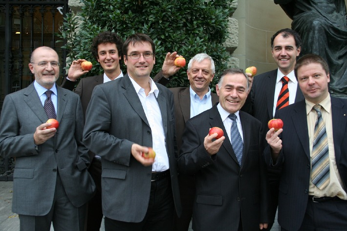 Foto: Parteipräsidenten für die Bilateralen