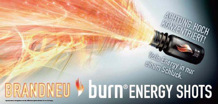 Jetzt neu: burn Energy Shot - volle Energie in nur einem Schluck