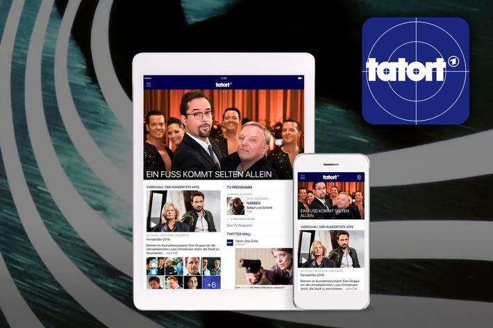 """Das Erste / Es ist soweit: Die """"Tatort""""-App ist da / Die erfolgreichste Krimi-Reihe Deutschlands ab heute rund um die Uhr auf Smartphone und Tablet"""