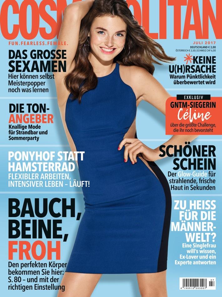 """Céline ist das nächste COSMOPOLITAN Cover-Girl / """"Germany's next Topmodel""""-Gewinnerin ziert zum 12. Mal den Titel"""