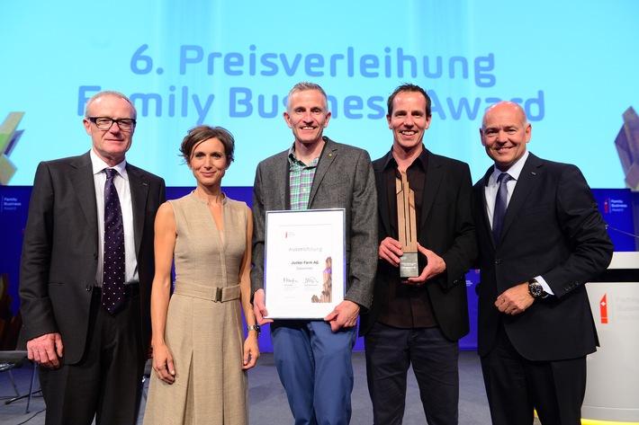 Jucker Farm remporte le Family Business Award 2017
