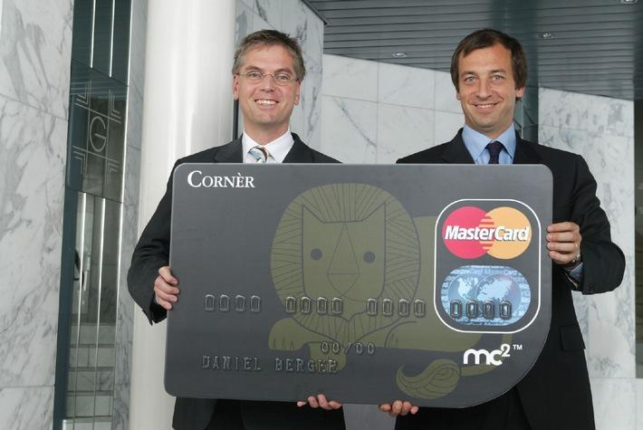 Cornèr Bank lanciert die MasterCard mc2 Icon Karte - Eine innovative Kreditkarte im aufmerksamkeitsstarken Design