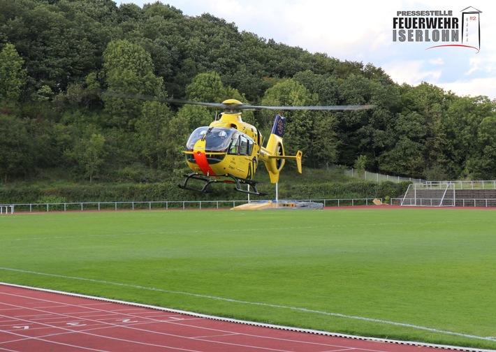 FW-MK: Rettungshubschraubereinsatz nach Sportunfall