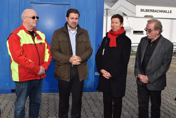 BRITA unterstützt mit der Weihnachtsspende 2015 die Erstversorgung von Flüchtlingen in Taunusstein / Aufbau von beheizbaren Containern und einem leitungsgebundenen Wasserspender