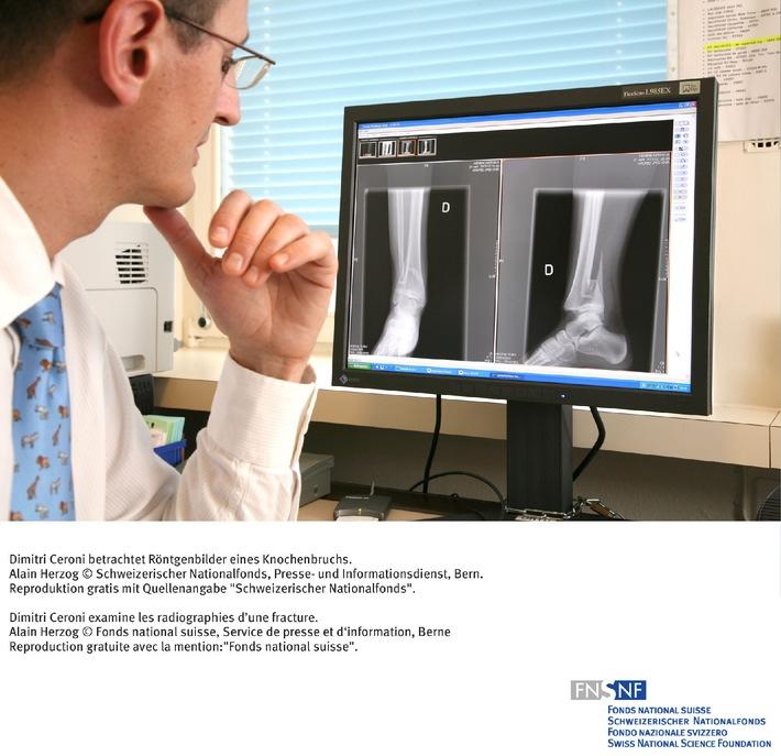 SNF: Bild des Monats Oktober 2006: Langzeitbeobachtung von  Knochenbrüchen bei Kindern und Jugendlichen