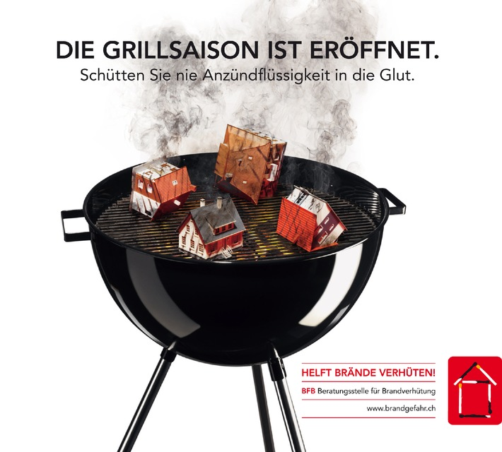 Die Grillsaison ist eröffnet: Unfallfreies Grillvergnügen mit den Tipps der BfB