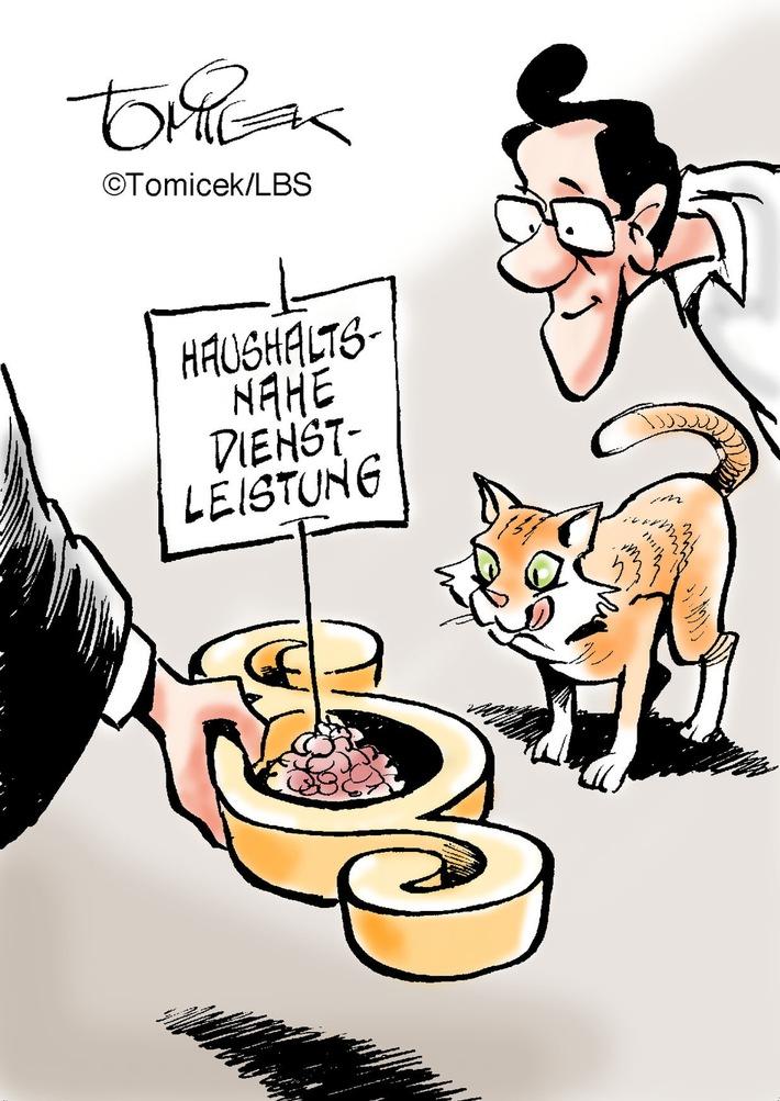 Katzenfreundliche Justiz / Betreuung eines Tieres kann als haushaltsnahe Dienstleistung gelten