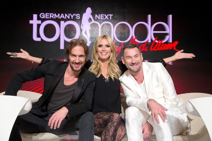 """Drehstart in Berlin. Heidi Klum sucht mit Michael Michalsky und Thomas Hayo """"Germany's next Topmodel"""" 2016"""