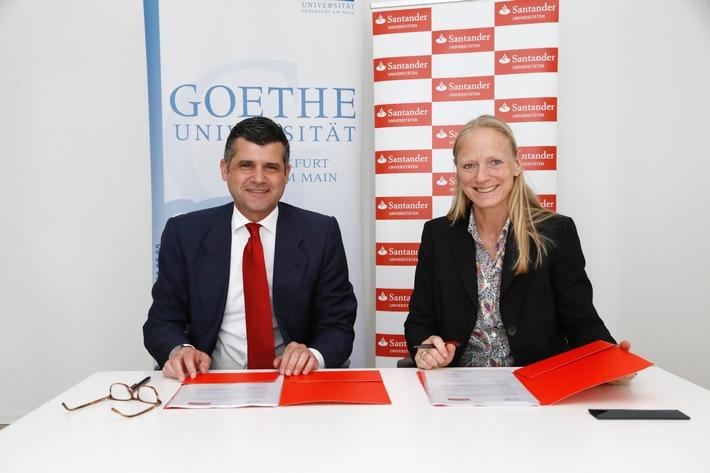Santander und Goethe-Universität Frankfurt verlängern Partnerschaft