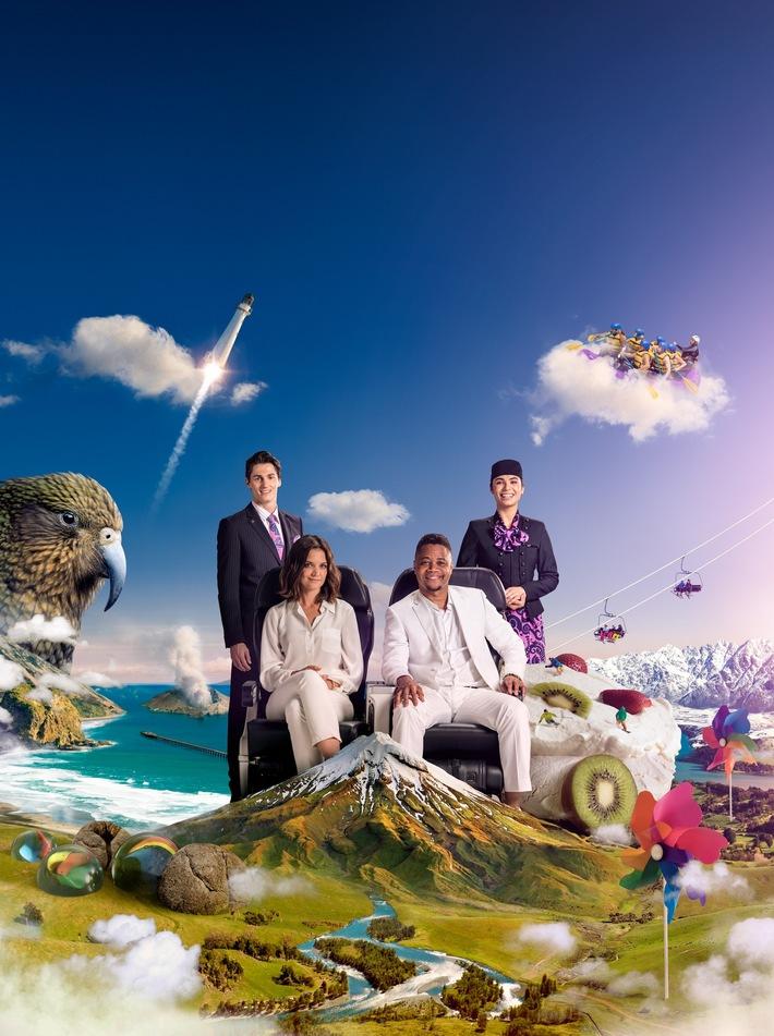 Eine fantastische Reise: Air New Zealands neues Sicherheitsvideo mit Katie Holmes und Cuba Gooding Jr.