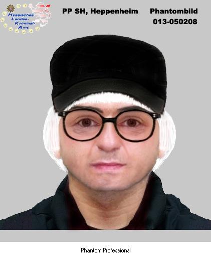 POL-DA: Kreis Bergstraße/ Bensheim: Wer kennt diesen Mann? Kripo fahndet mit Phantombildern nach bewaffnetem Tankstellenräuber.