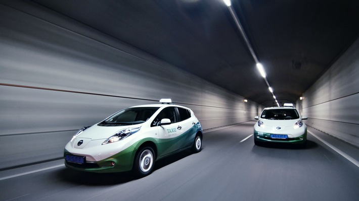 E-Taxi bitte! Nissan führt die globale Taxi-Revolution an