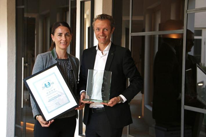 """Alpenresort Schwarz freut sich über European Health & Spa Award 2016 als """"Best Destination Spa"""""""